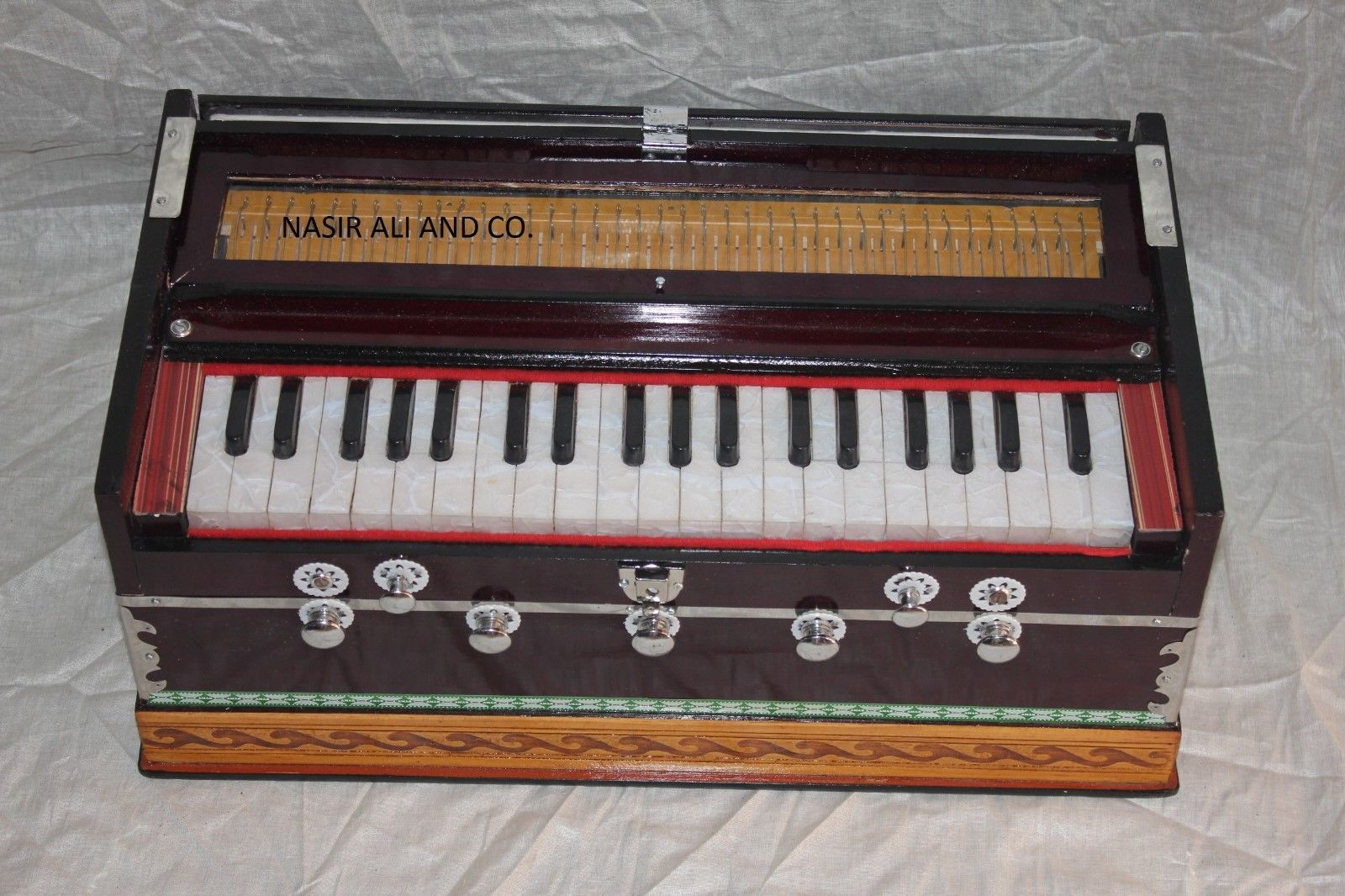 Harmonium 7 Stopper Double Bellow 39 Key 440Hz Indian Musical Instrument